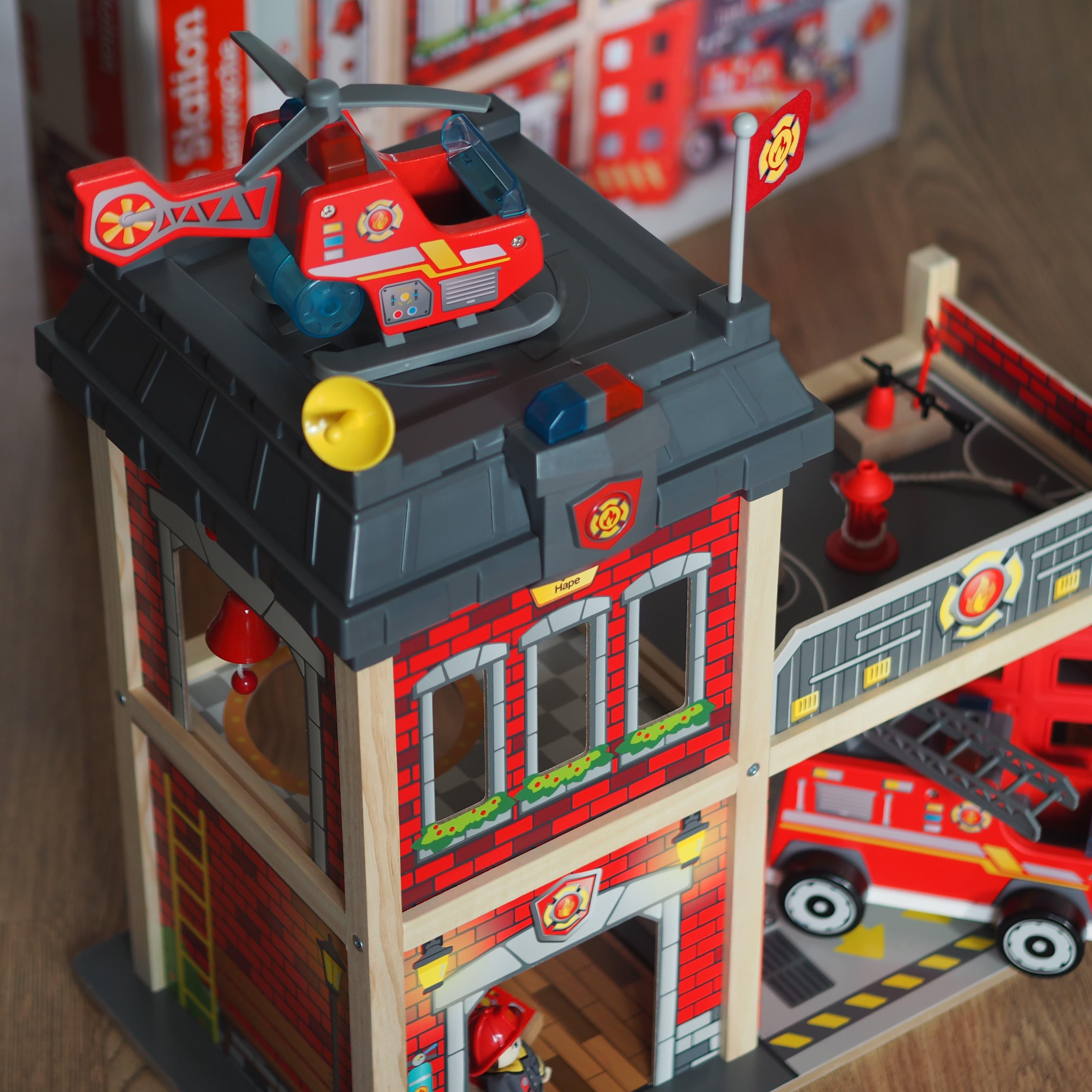 Hape Fire Station Side - Chiino.co.uk